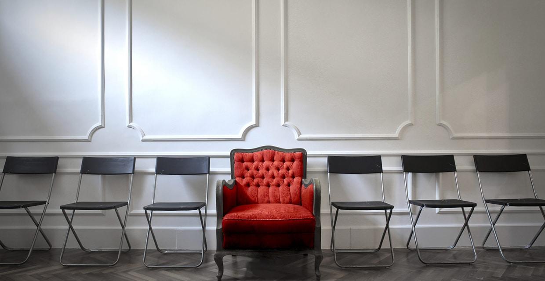 Abbildung roter Sessel